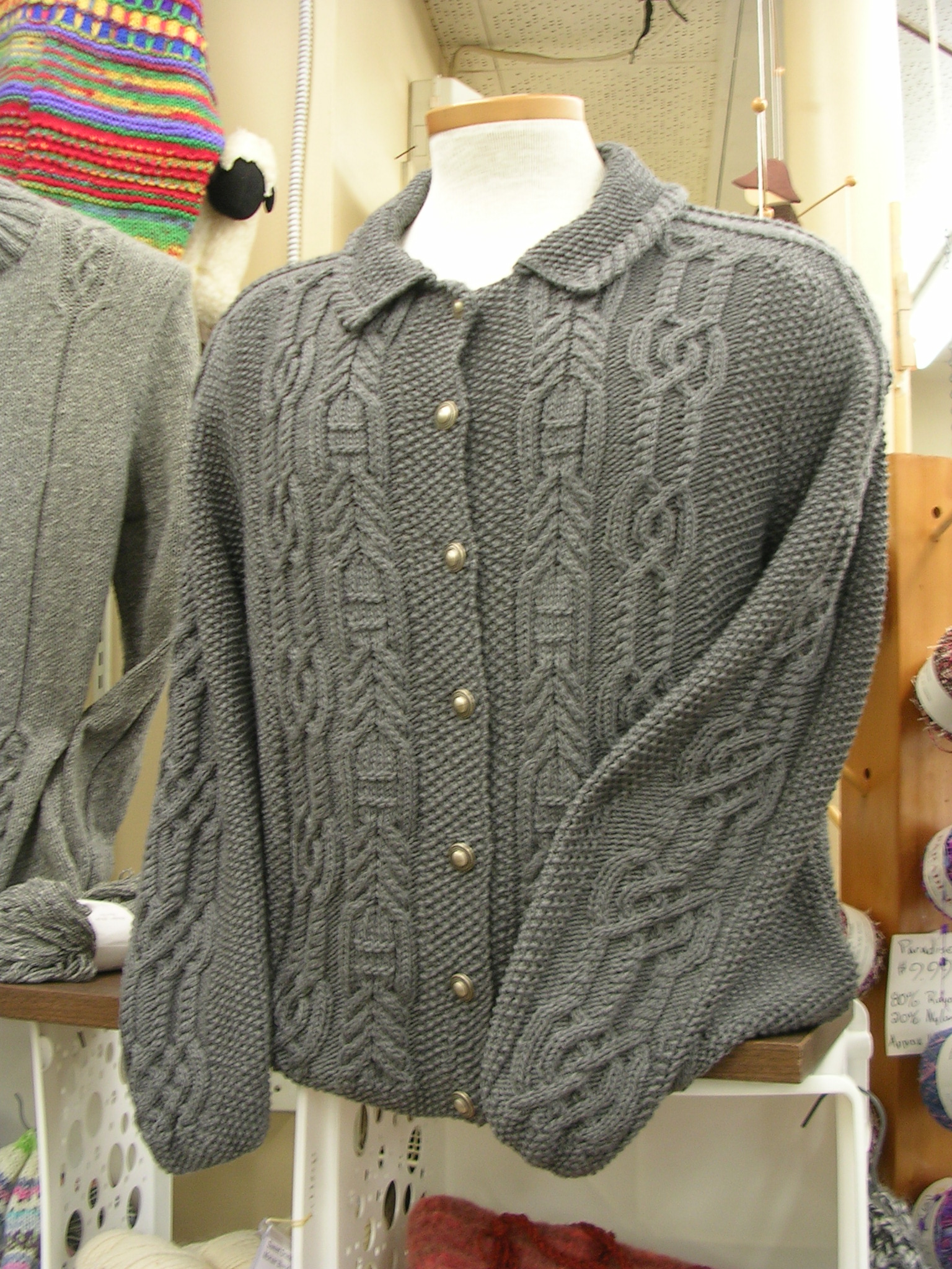Front view of winning sweater